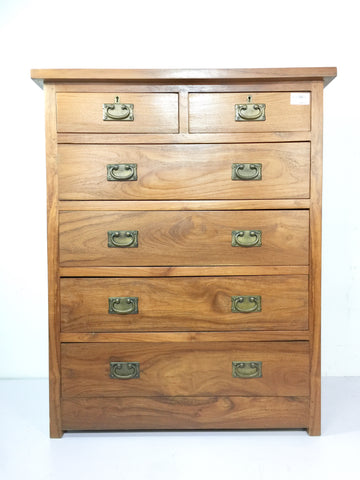 Solid Teak Chest Of Drawer Cabinet