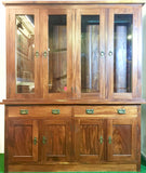 Teak Solid Wood Display Cabinet