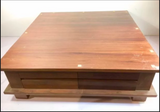 Solid Teak 4 Drawer Square Coffee Table
