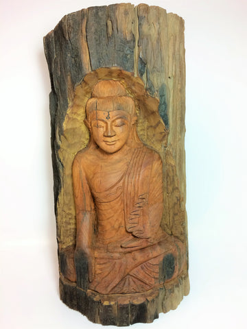 Wooden Sculpture Buddhist Carved Display