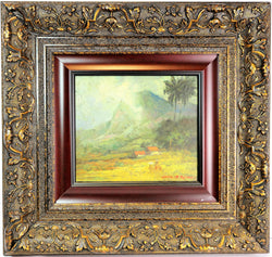 """Javanese Landscape"" Oil On Board Painting By Gerald Pieter"