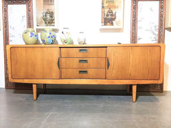 Teak TV Stand Media Console Cabinet