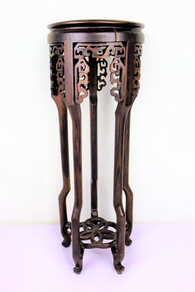 Rosewood Flower Vase Stand