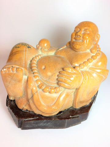 Laughing Buddha Stone Sculpture