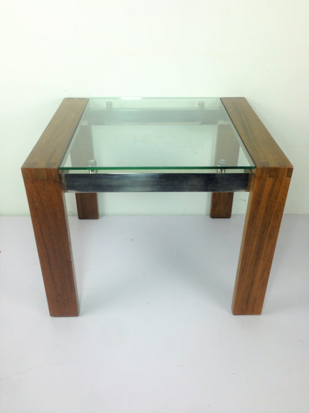 Teak Coffee Table Glass Top