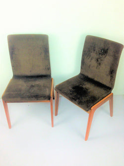 Upholstered Teak Chair (1 Pair)