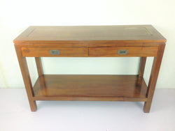 Teak Side Table With Drawer