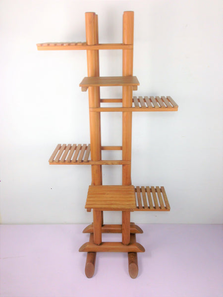 Wooden Flower Rack Stand