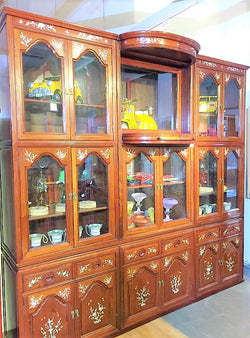 Large Rosewood Display Cabinet