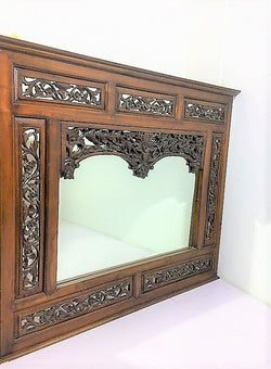 Balinese Teak Window Display Mirror