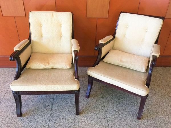 Pair of British Colonial Vintage Chair