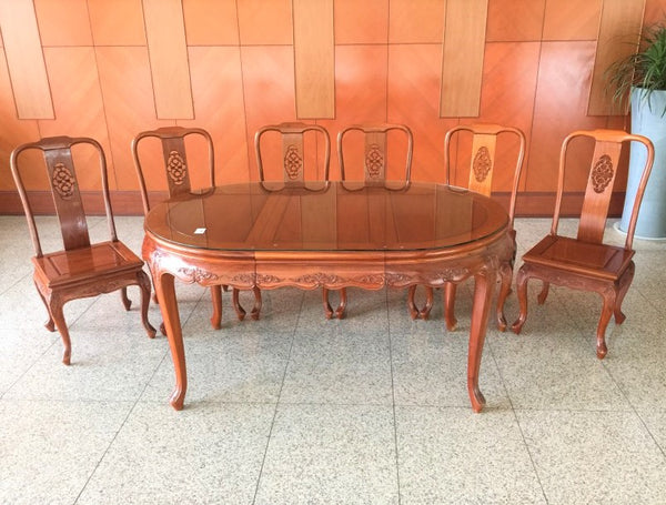 Rosewood Dining Set Include 6 Chairs