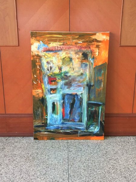 Geylang-Shophouse Abstract Oil Painting