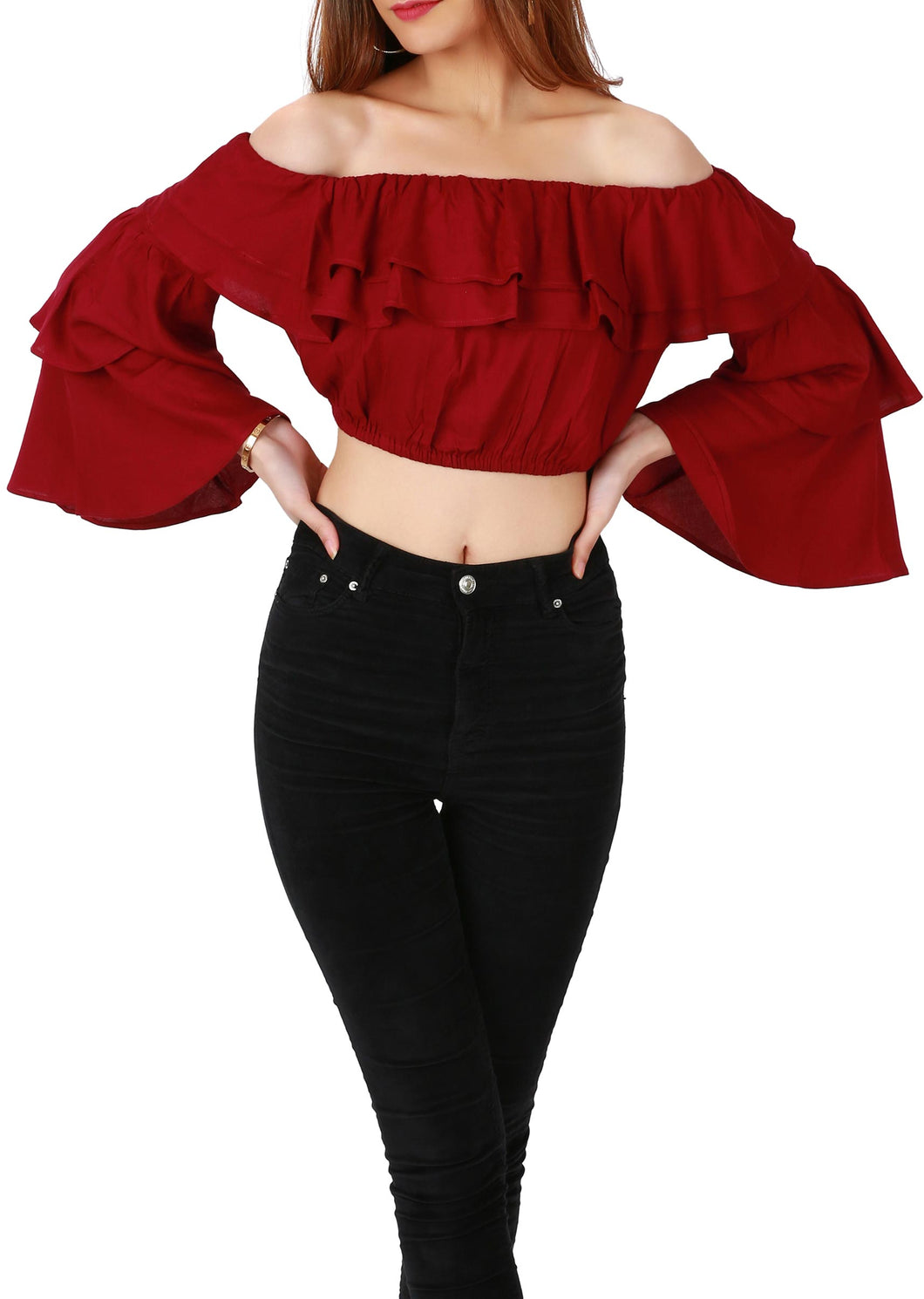 Ruffled crop top