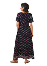 Overlap Printed Maxi Dress