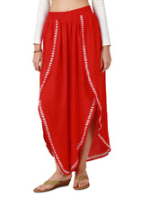 Low-rise Red Palazzo Pants