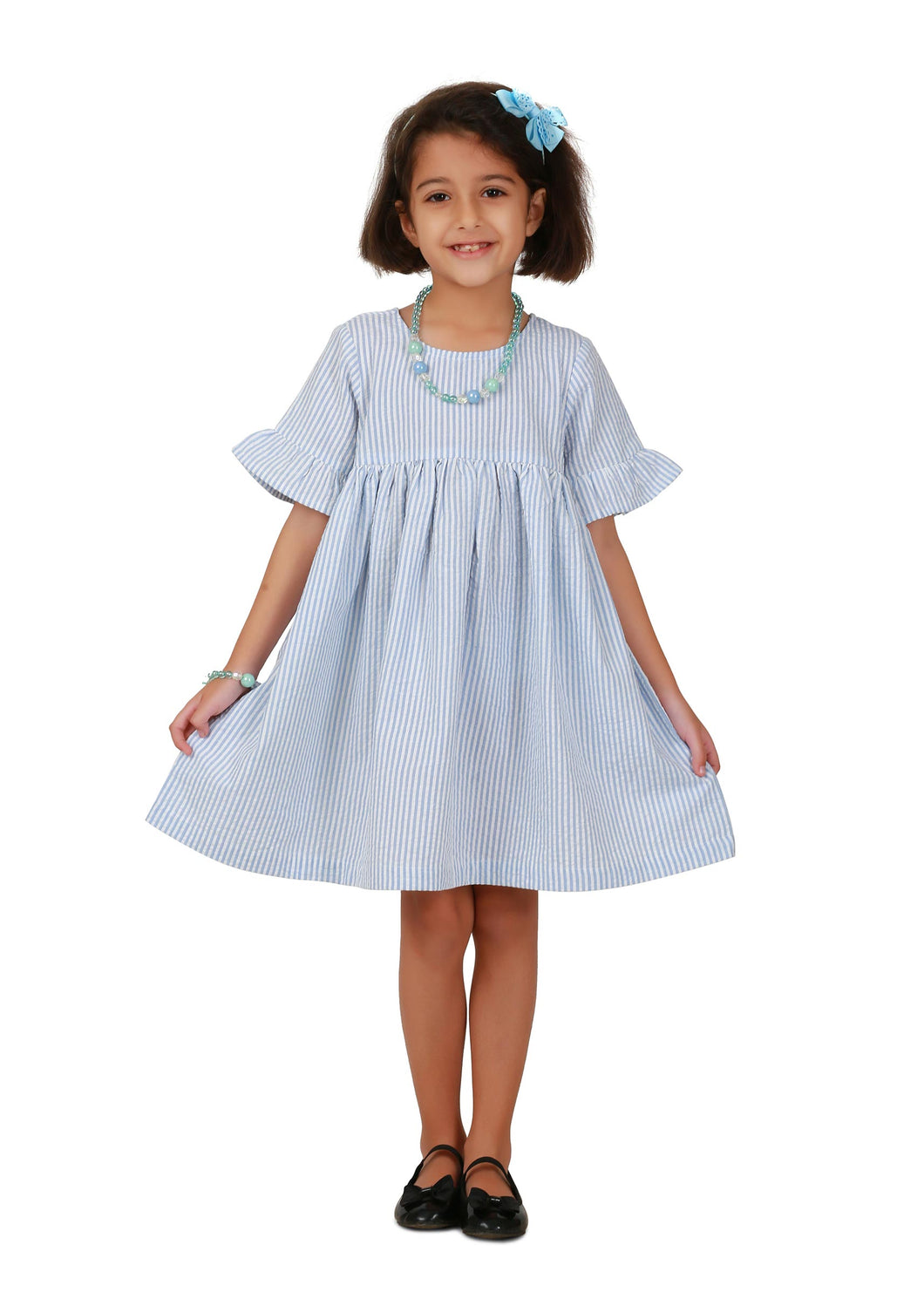 Smock Cerulean Dress for Girls