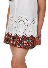 White Cutwork Embroidery Top
