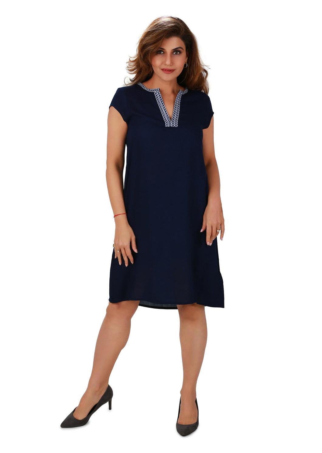 Portrait Neckline Shift Dress