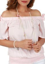 Blush Pink Bardot Top