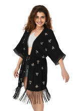 Black Tassel Cover-up