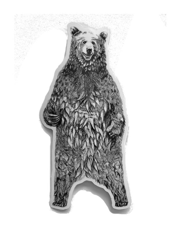 Vinyl Bear Sticker