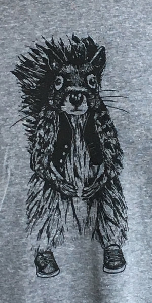 T-Shirt - Squirrel Short Sleeve Crew Neck T-Shirt
