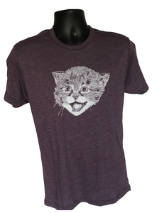 T-Shirt - Cat Purple Short Sleeve