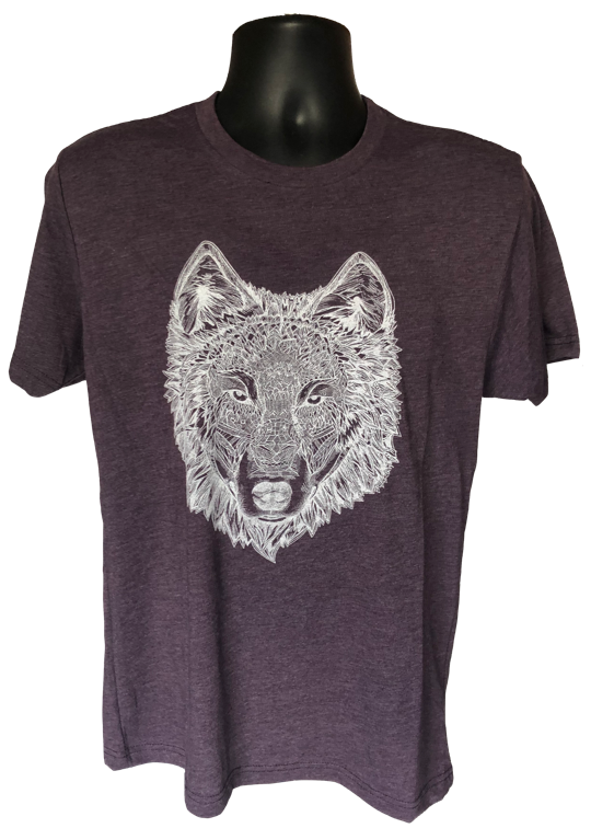 T-Shirt - Wolf Vintage Purple