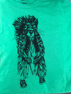 T-Shirt - Squirrel Short Sleeve Green