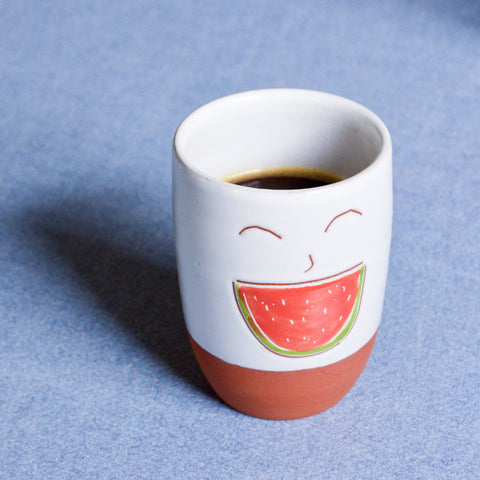 Happy Watermelon Cup with coffee
