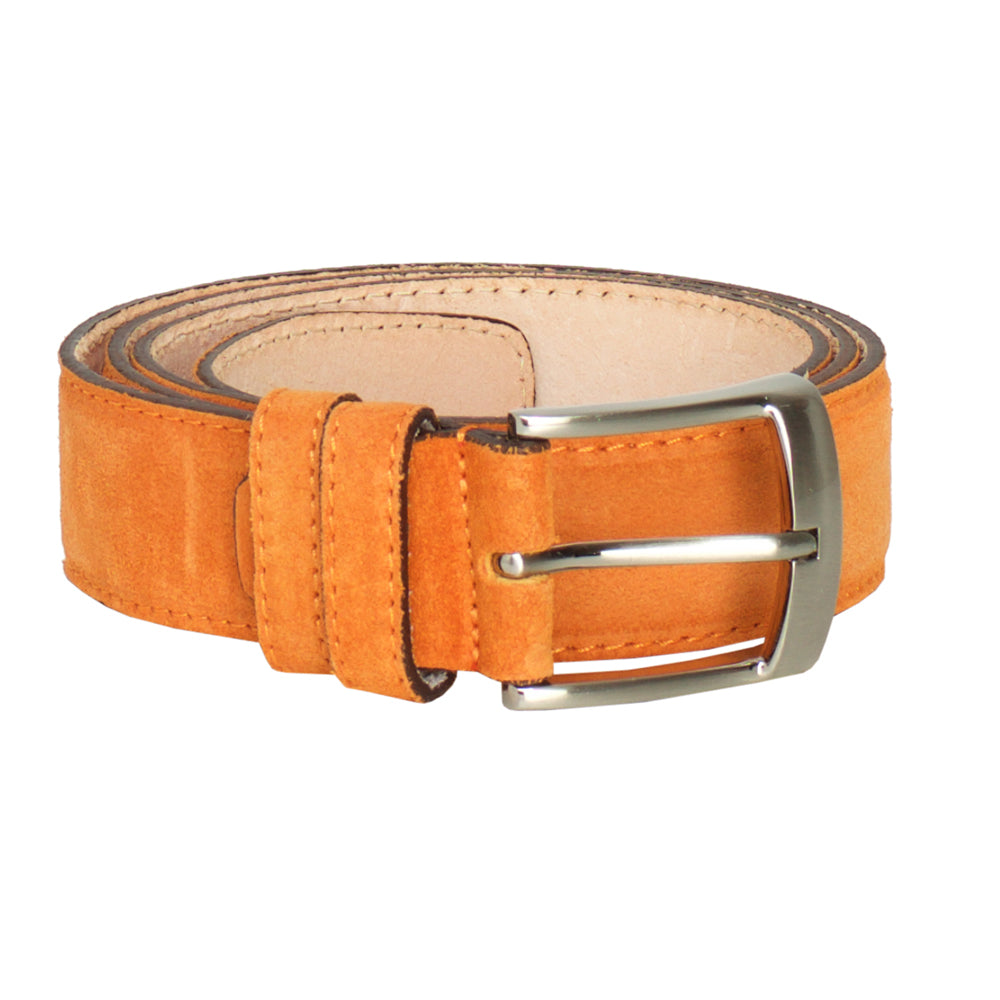 Genova Orange- Leather Belt