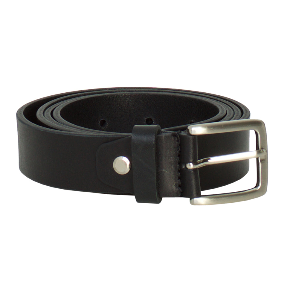 Carrarino Black- Leather Belt