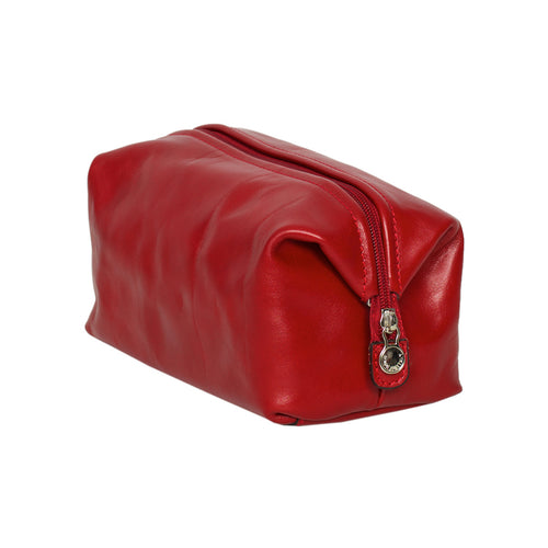 The Grand dopp kit Red - Leather Large Toilet Kit