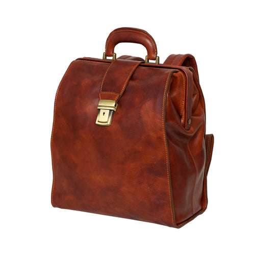 Hepius Brown - Doctor Bag -Backpack
