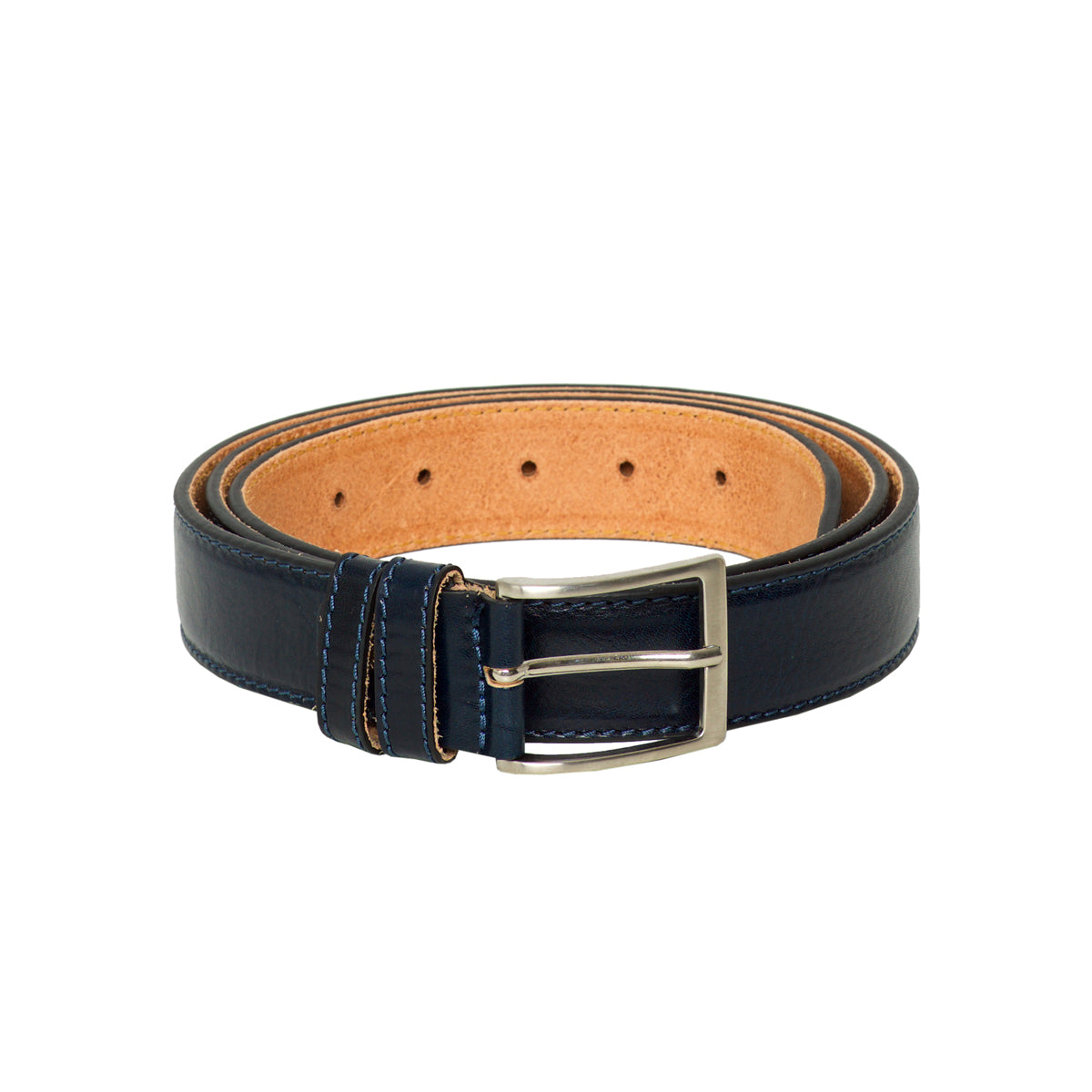 Trieste Blue - Leather Belt