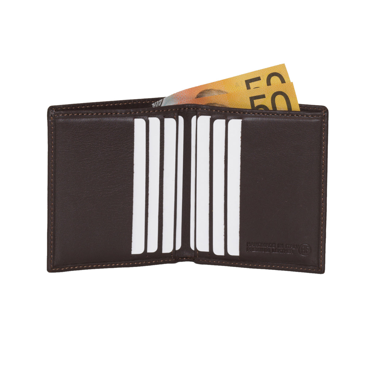 Verdi Chocolate - Slim Bi-fold Leather Men's Wallet
