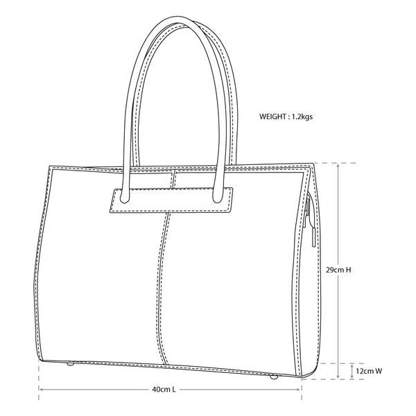Florence Brown - Leather Tote/Work Bag
