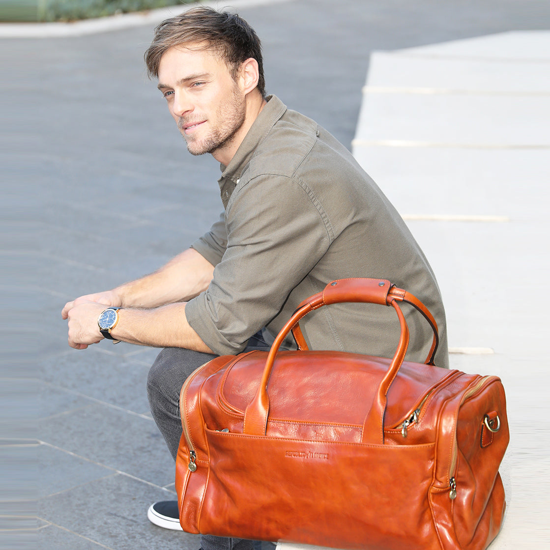 Bellini Tan Duffle Bag