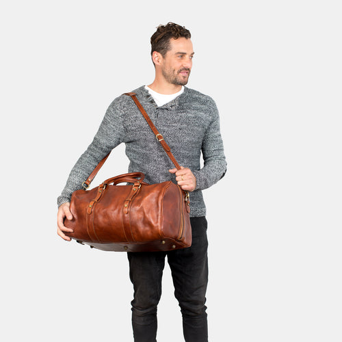 Polo Medium Tan - Leather Duffle Bag