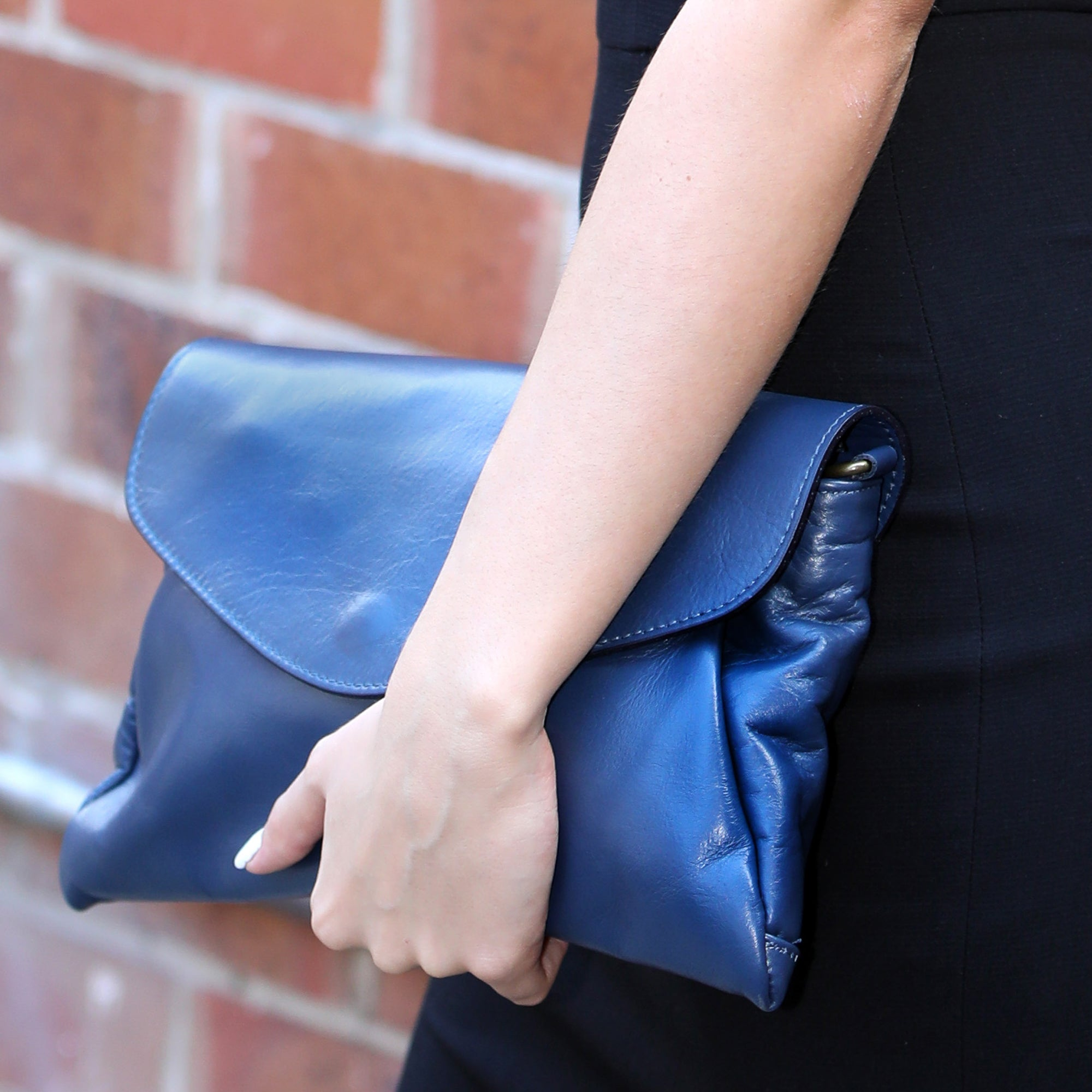 Leura Blue Clutch Bag