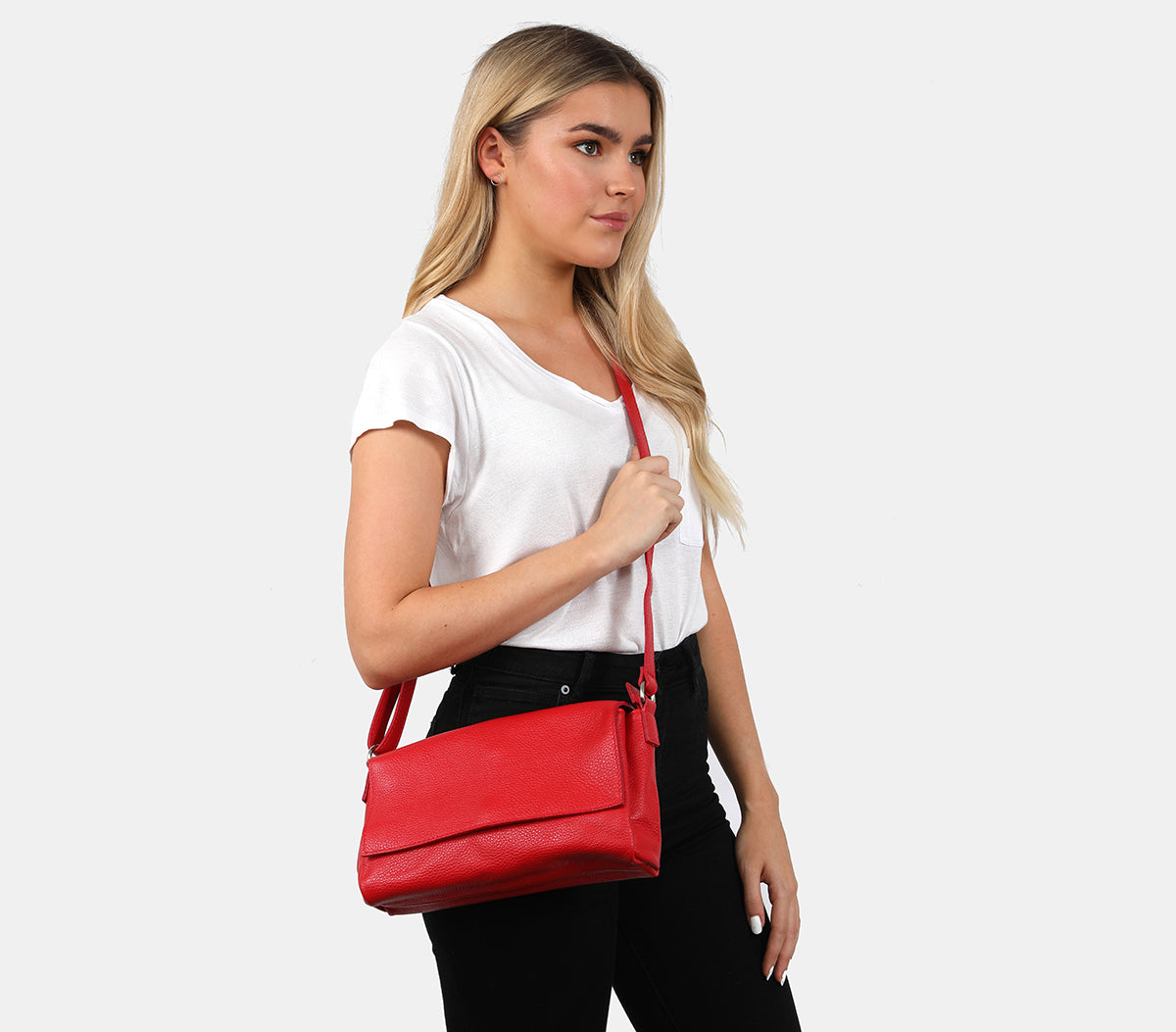 Marley Red Shoulder Bag