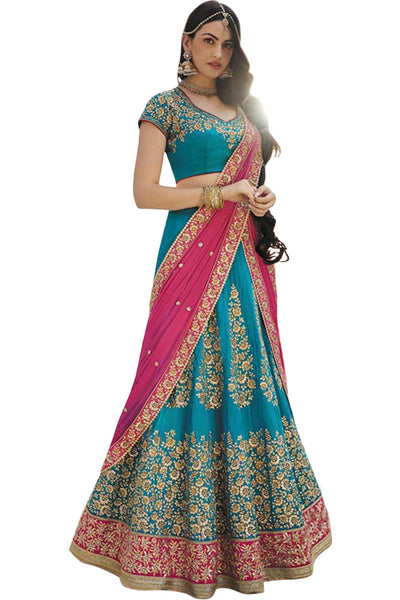 blue-pink-a-line-lehenga-in-handloom-silk