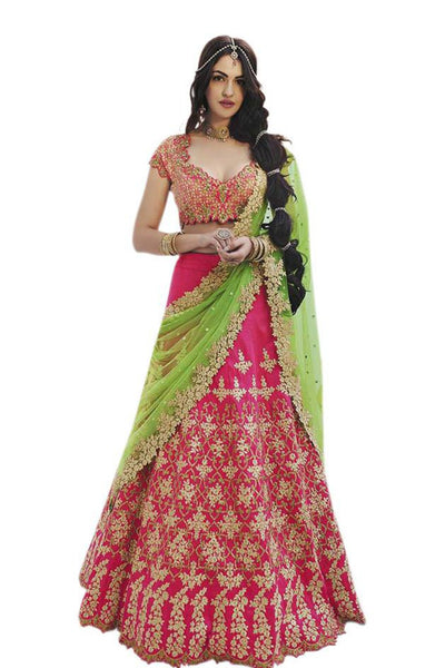 pink-light-green-a-line-lehenga-in-silk