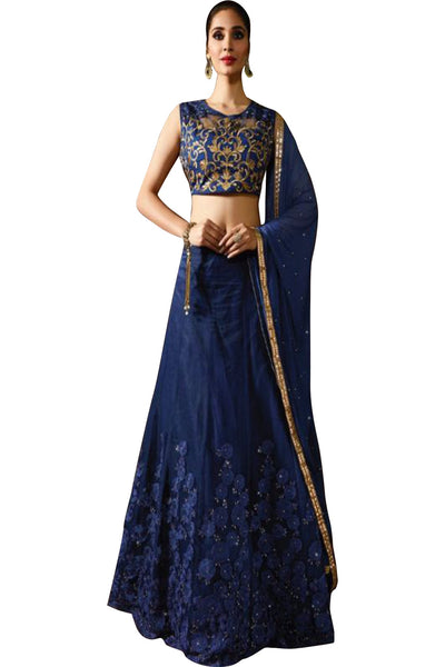 blue-embroided-anarkali-suit-in-raw-silk