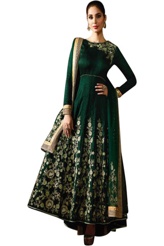 dark-green-embroided-anarkali-suit-in-raw-silk