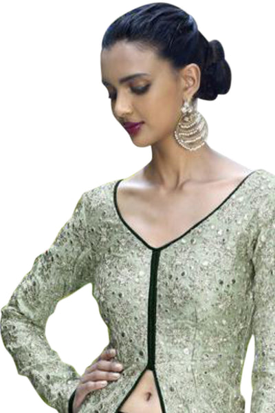 light-green-dark-green-embroided-straight-cut-suit-in-bhagaluri-silk