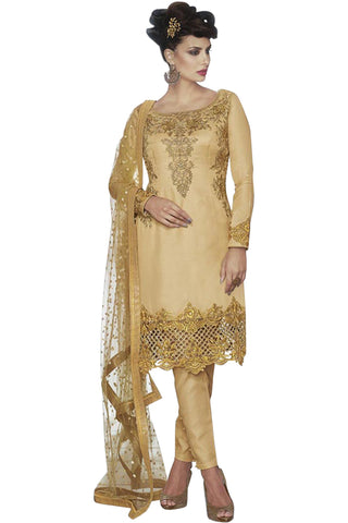 beige-embroided-straight-cut-suit-in-tussar-silk