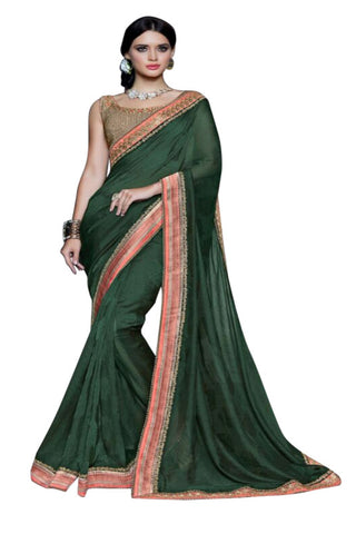 dark-green-embroided-saree-in-georgette