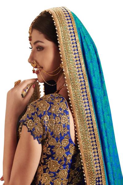 blue-green-half-and-half-saree-in-jacquard-art-silk
